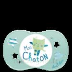 Acheter Luc et Léa Sucette symétrique 0-6mois Mon chaton B/1 à LIVRON-SUR-DROME